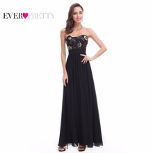 Strapless Prom Dress Ever Pretty Women Sweetheart EP07060BK 2017 A Line Gorgeous Long Beaded Party Prom Gown Plus Size(China)