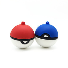 2016 Pokemon Ball USB Flash Drive 128GB 64GB 32GB 16GB 8GB 4GB Pokeball Pendrive USB Pens Stick Flash Disk Memory Storage Device(China)