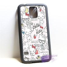 hello kitty fashion cell phone cover case for samsung galaxy S3 S4 S5 S6 edge S7 edge Note 3 4 5 #P5650