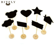 10x Mini Chalkboard Rectangle Shape Blackboards on Stick Stand Place Holder Brand New Wedding Party Decor festa Free Shipping