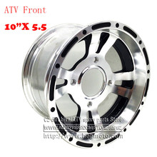 "ATV 10inch Front Wheel Aluminum Alloy Rims 10""x 5.5 Quad Chinese Off-Road 4 wheel Motorcycle Motocross"