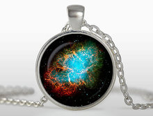 2017 new hot Wholesale jewelry accessories Crab Nebula Pendant Galaxy Necklace Universe Jewelry glass dome art necklace 2015