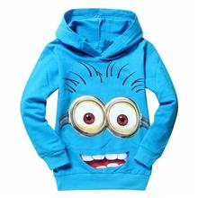 New 2017 hot sale fashion cartoon long sleeve hooded cotton kids baby girls boys children hoodies sweatshirts sweaters(China)
