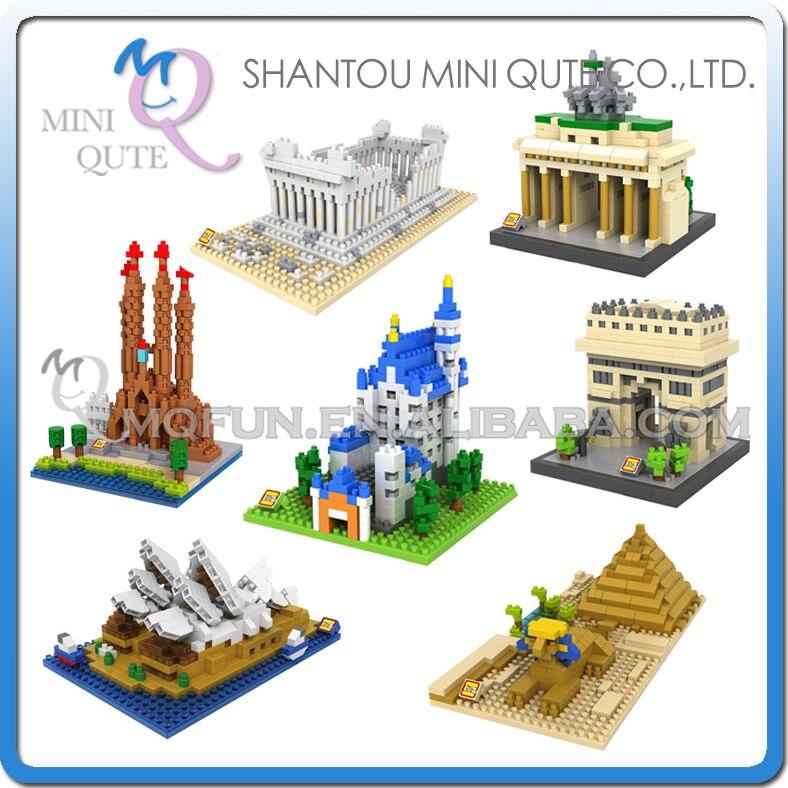7pcs/lot Mini Qute LOZ World architecture 7 styles Sphinx diamond plastic building block scale model educational toy<br><br>Aliexpress
