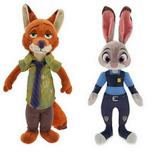 2016 Zootopia 20-23cm Movie Plush Rabbit Judy Hopps and Fox Nick Wilde Kids Action Figure Toys