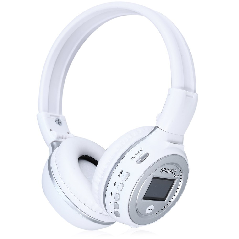 Zealot B570 LED Display Screen Headset  Stereo Wireless Bluetooth V4.0 Headphone Earphone With FM Radio TF Card Slot For PC<br><br>Aliexpress