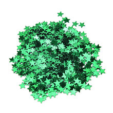 1000pcs/set 10mm Stars Table Confetti Sprinkles Birthday Party Wedding Decoration Blue Gold Silver Green Metallic Stars