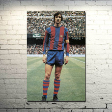 POPIGIST-Johan Cruyff Football Legend Art Silk Poster 13x20 inch Netherlands Soccer Star Pictures for Living Room Decor 003