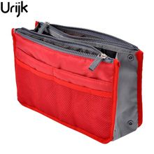 Urijk Cosmetic Container Storage Bags Make Up Organizer Holder Multifunction Zipper Portable Travel Storage Bags Thicken(China)