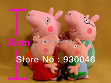 SELLWORLDER Brinquedos 4pcs/set Pig Family Wholesale Stuffed Animals & Plush Toys