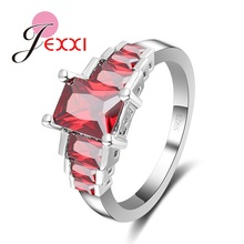 JEXXI 3 colors avaliable Best Gift For Friend Sisters S925 Silver Ring With AAA CZ Rings Time Design(China)