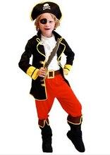 Дети мальчики пиратские костюмы/косплей костюмы для мальчиков/хэллоуин косплей костюмы для детей/детей косплей(China)