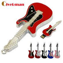 Metal instruments Electric Guitar Usb flash memory stick 2GB 4GB 8GB 16GB 32GB 64GB Usb flash drive disk Lovely Guitar Pen drive