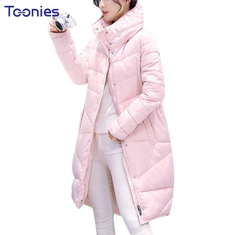Winter Coat Women Jacket 2017 Fashion Long Warm Down Parka Female Solid Color Jaqueta Feminina Inverno Womens Jackets OvercoatÎäåæäà è àêñåññóàðû<br><br>