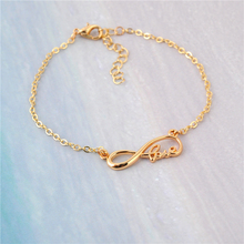 New Fashion Geometric love Bracelet Lucky Women Bracelet Personality Number Letter Bracelet Gift Idea(China)