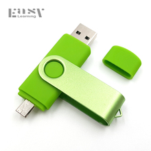 For Android System Metal OTG USB Flash Drive Pendrive Usb Stick Full Capacity 8GB 16GB 32GB Pen Drive Gift(China)