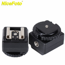 NICEFOTO Flash Hot Shoe Adapter with 3.5mm PC Sync Socket for Canon SLR Camera Converter Used for Nikon Flash C-N2(China)
