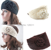 Women Crochet Headband Knit Hairband Flower Winter Ear Warmer Headwrap