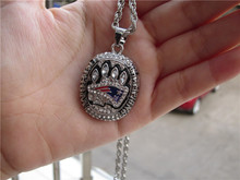 High quality 2014 New England Patriots Super Bowl World Championship Pendant Necklace With 24 inch Chain free shipping(China)