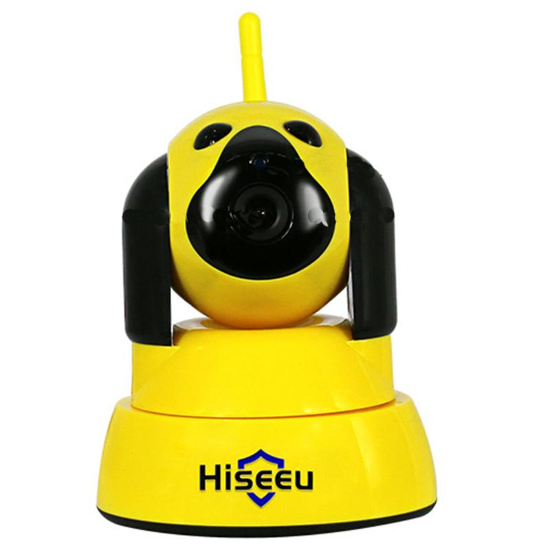 2017 Hot Sale WiFi Wireless  Cameras  Alarm Baby  Surveillance Camera Family Network Yellow And White Colors<br>