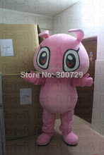 export high quality POLE STAR MASCOT COSTUMES big head pink bunny mascot costumes