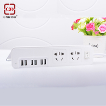Sockets USB Charging Station Power Strip with 2 AC Outlet 6 Smart USB Charger Port for iPhone Android Camera Electrical Socket
