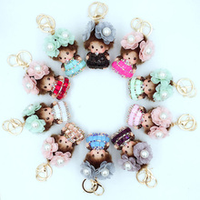NEW ARRIVAL LOVELY DAISY PRINCESS MONCHICHI CUTE DOLL KEYCHAIN PENDANT FOR HANDBAG BAG CHARMS ACCESSORY CHILDREN'S TOY GIFT(China)