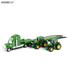 High Quality 1:87 Siku Truck With New Holland Tractors Model Toys 1805 LKW mit New Holland Traktoren Kids Toys Free Shipping(China)