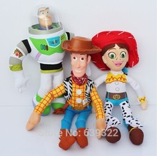 3pcs/lot Toy Story Plush Toys Buzz Nightyear Woody Jessie Stuffed Dolls Plush Toys For Children 40-45cm
