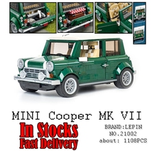 Lepin technic creator 21002 MINI Cooper Volkswagen T1 Beetle Convertible Model Building Blocks Bricks Toys for children gifts(China)