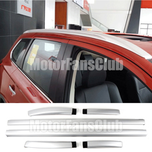 Car Roof Rack Silver Alloy Top Roof Side Rails Rack Cargo Luggage For Mitsubishi Outlander 2011-2016 Auto Roof Cross Bars