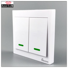 Anntem brand Wall Panel Wireless Remote Control Switch 433mhz Transmitter 1/2/3 Button Sticky RF TX Room Living Room Bedroom