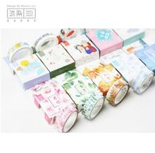 15MM*7CM The Love Song of 4 Seasons Washi Tape Scotch DIY Scrapbooking Sticker Label Masking Craft Tape