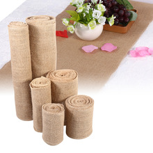 2M 5M DIY Craft Natural Jute Burlap Wedding Centerpieces Decor Sisal Trim Jute Hessian Country Party Wedding Table Decoration