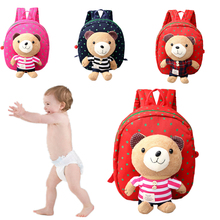 Safety Harnesses For 1-3 Years Old Baby Toddler Walking Keeper Bear Backpack Strap Bag Anti Lost Children Harnesses & Leashes