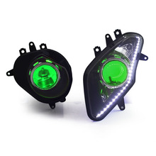 KT Motorcycle Headlight for BMW S1000 RR 2009-2014 Fully Headlamp Hid Projector Front Angel Halos Eye Green Demon Kit 2010 2013(China)