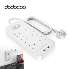 dodocool Smart Power Strip Intelligent 6 Ports Socket Outlet 5V 2.4A 2-Port USB Charger with 4.92ft Extension Lead Cord for Home