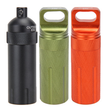 EDC Keychain Waterproof Bottles Emergency First Aid Survival Pill Bottle Camping EDC Tank Box Also for Cigarettes Matches
