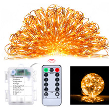 10X 16.4ft 33ft LED Copper Wire Fairy String Lights Remote Control Timer Dim Twinkle Flash 8 Mode for Wedding &Christmas Party(China)