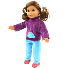 Fashion hot 18 inch American doll pajamas clothes for the United States girls doll accessories b153
