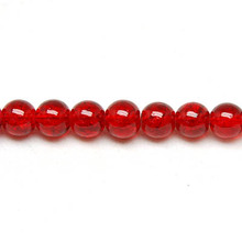 Cracked Round Bead 12mm ,Red glass crackled beads