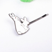 Timlee H058 Cute Two Rabbits Metal Barrettes Hair Pins Clip Hair accessory wholesale