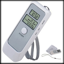 50% shipping fee 50 pieces White Portable LCD Digital Breath Alcohol Analyser Breathalyzer Tester