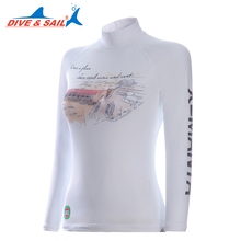 DIVE&SAIL Lycra UPF 50+ Rash Guards For Women Body Suits Separates Snorkeling Dive Skin Anti-UV Wear Surfing Sports Swim Clothes