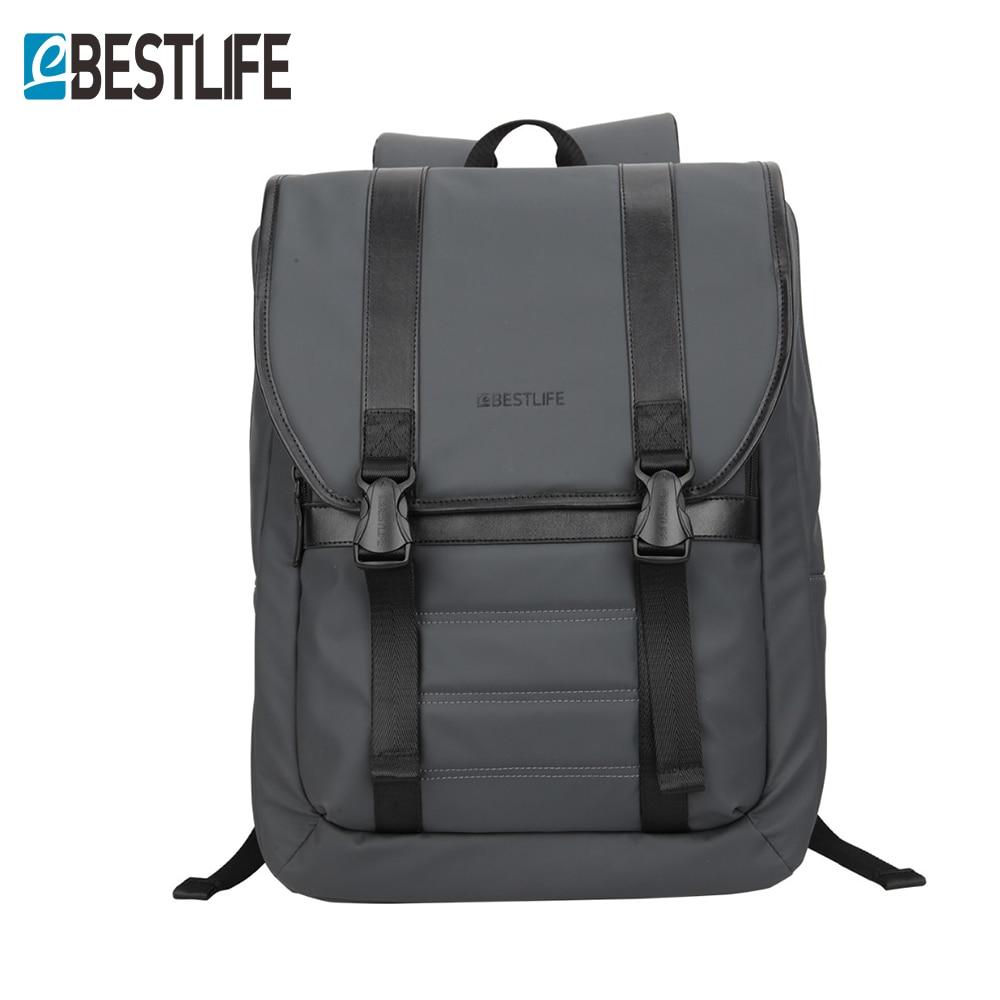 BESTLIFE 1517Flap laptop backpack anti-theft waterproof travel Bag rubber PU Leather mochila escolar For Teenager School bag<br>