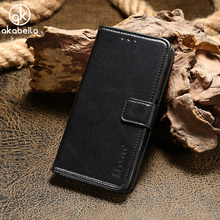 AKABEILA Luxury Flip PU Leather Phone Cases For Vernee Thor E Cover Wallet Card Slot Housing Bag For Vernee Thor E Cover