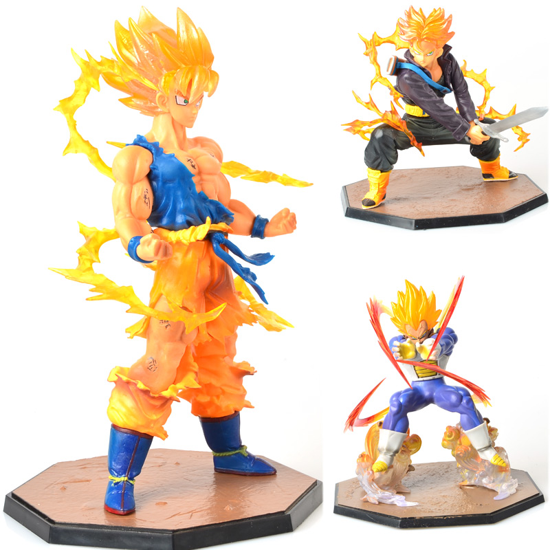 Anime Dragon Ball Z Goku Fighers Super Saiyan Prince Vegeta Manga Trunks Son Gokou Gohan Action Figure Model Collection Toy Gift<br><br>Aliexpress