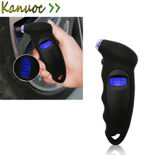 Portable LCD Digital Tyre Air Pressure Gauge Tester Meter Tool For Auto Car Motorcycle for VW Polo Ford Kuga Chevrolet(China)