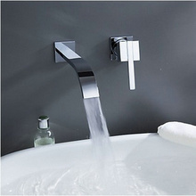2Pcs Bathroom Wall Mounted Bathroom Tap Sink or Bathtub Faucet Chrome 1 handles Faucet PA-06