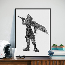 Black White Final Fantasy Japanese Game Poster Prints A4 Abstract Picture Modern Home Decor Wall Art Canvas Paintings No Frame(China)